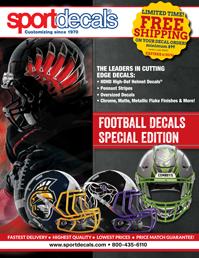 Sportdecals Football Helmet Decals Catalog 2016